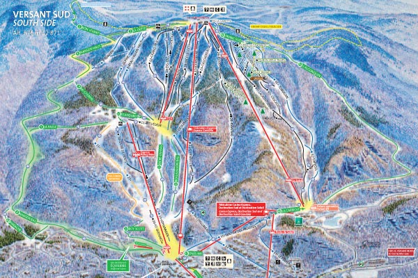 Useful Maps for Mont Tremblant Resort on