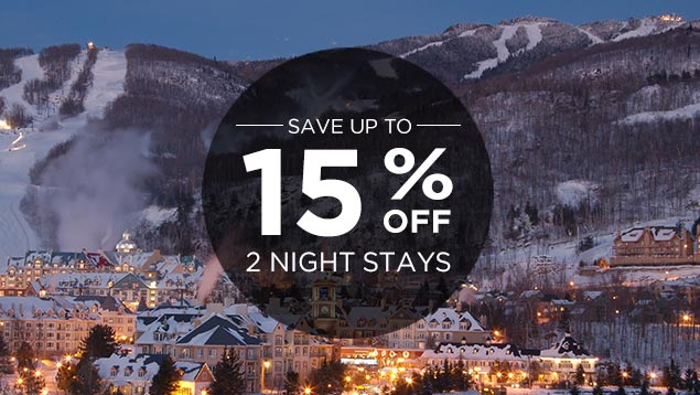 Stay 2 nights and save up to 15% !