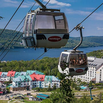 Enjoy free access to the sliding slopes with Tremblant SunstarRide our panoramic gondola to the top of the highest peak