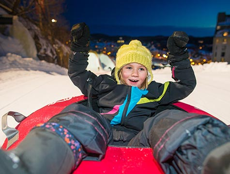 Enjoy FREE access to the sliding slopes during the evening!